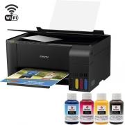 Impressora Sublimática Epson L3150 Multifuncional Tanque de Tinta Ecotank + Kit de Tinta Sublimática - Wi-Fi