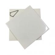 KIT Azulejo Branco de Cerâmica para sublimação 15 X 15CM + Caixinha sublimática + Suporte