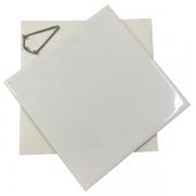 KIT Azulejo Branco de Cerâmica para sublimação 20X20CM + Caixinha sublimática + Suporte