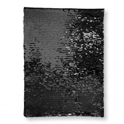 OBM-Aplique de Lantejoula Dupla Face Retangular 21x28cm Preto e Branco