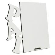 Porta Retrato MDF Para Sublimação Texturizado Branco 16x18cm - PAI -