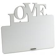 Porta Retrato MDF Para Sublimação Texturizado Branco 25,5x21,5cm - LOVE -