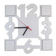 Relógio De Parede MDF Para Sublimação Texturizado 27x27cm