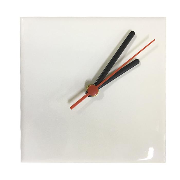 Relógio Para Sublimação 15x15cm (Azulejo)   - ALFANETI COMERCIO DE MIDIAS E SUBLIMAÇÃO LTDA-ME