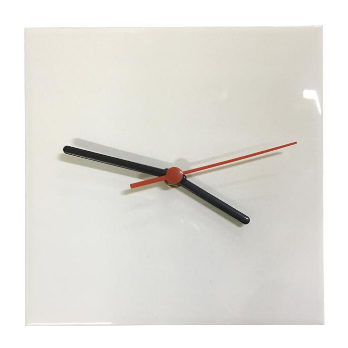 Relógio Em Azulejo Para Sublimação 20x20cm  - ALFANETI COMERCIO DE MIDIAS E SUBLIMAÇÃO LTDA-ME