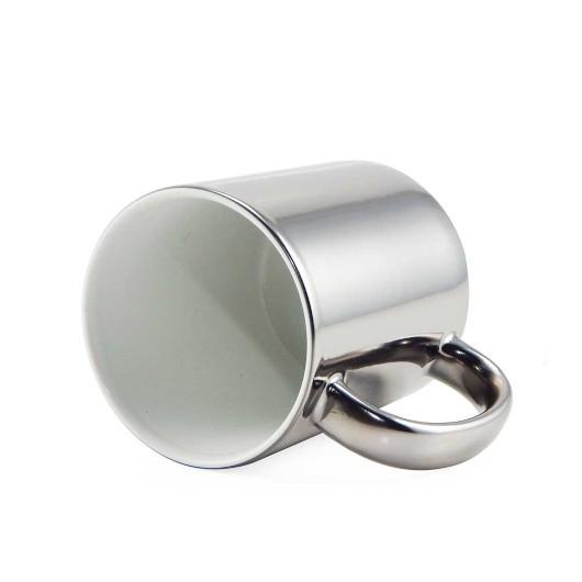 Caneca Cromada Prata Resinada Para Sublimação em Cerâmica  - ALFANETI COMERCIO DE MIDIAS E SUBLIMAÇÃO LTDA-ME
