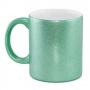 Caneca para Sublimação de Cerâmica Glitter Verde Esmeralda