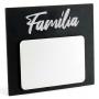 Porta Retrato MDF Para Sublimação Texturizado Preto e Branco 17,5x20cm - Família -