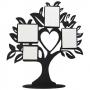 Porta Retrato MDF Para Sublimação Texturizado Preto e Branco 32x35cm - ÁRVORE -