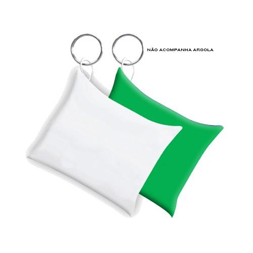 Almochaveiro Branco Fundo Verde para Sublimação 6 x 6cm   - ALFANETI COMERCIO DE MIDIAS E SUBLIMAÇÃO LTDA-ME