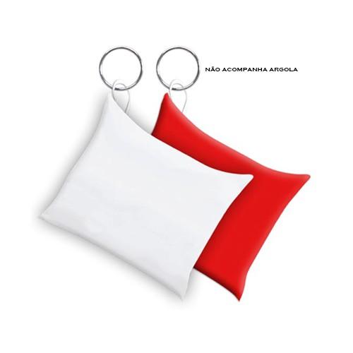 Almochaveiro Branco Fundo Vermelho para Sublimação 6 x 6cm   - ALFANETI COMERCIO DE MIDIAS E SUBLIMAÇÃO LTDA-ME