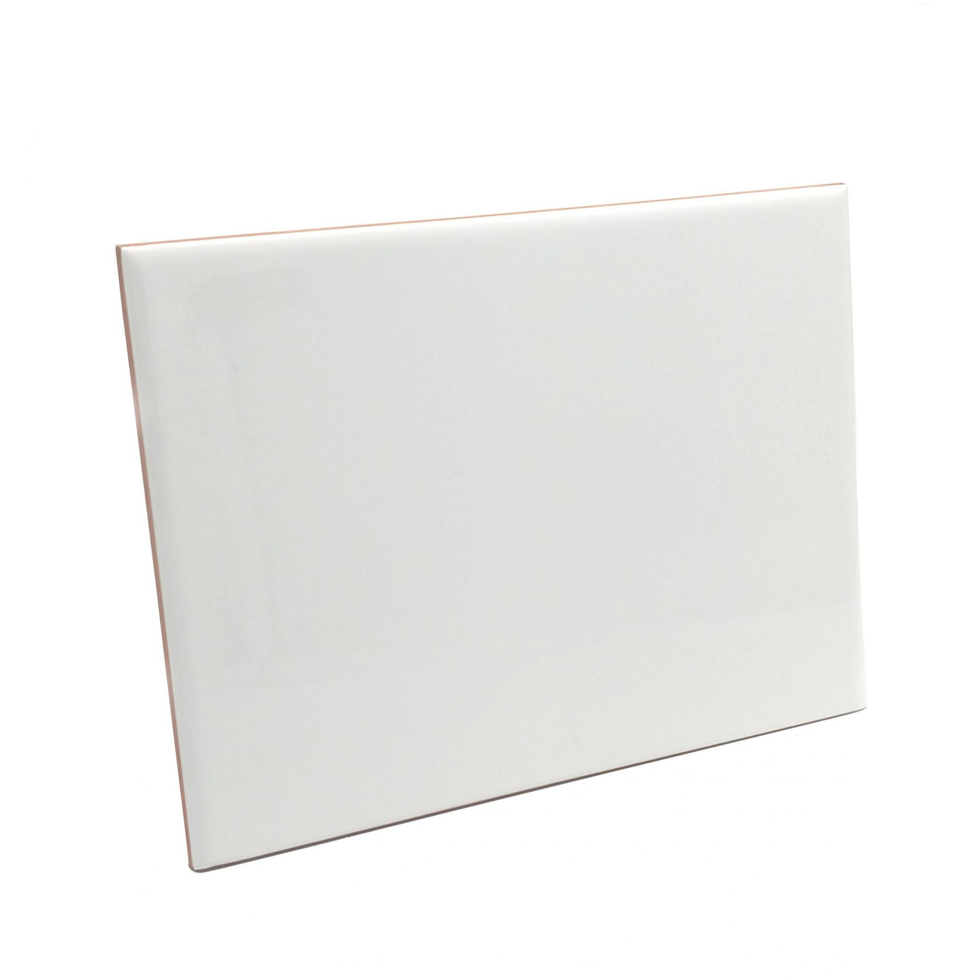 Azulejo Branco de Cerâmica para sublimação 15X20CM  - ALFANETI COMERCIO DE MIDIAS E SUBLIMAÇÃO LTDA-ME