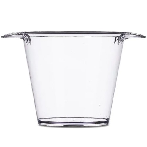 Balde de Gelo Transparente em PS Cristal Injetado 4 LITROS  - ALFANETI COMERCIO DE MIDIAS E SUBLIMAÇÃO LTDA-ME