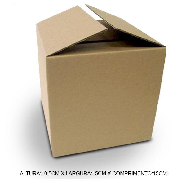 Caixa De Papelão Para Envio Nos Correios (A)10,5cm x (L)15cm x (C)15cm   - ALFANETI COMERCIO DE MIDIAS E SUBLIMAÇÃO LTDA-ME