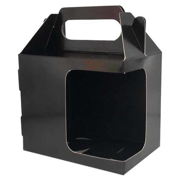 Caixinha preto para caneca - (Com alça e  janela em L)  - ALFANETI COMERCIO DE MIDIAS E SUBLIMAÇÃO LTDA-ME