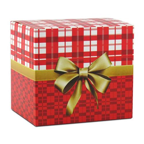 Caixinha Vermelha Com Laço Dourado para Caneca  - ALFANETI COMERCIO DE MIDIAS E SUBLIMAÇÃO LTDA-ME