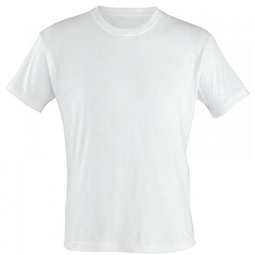 Camiseta Branca para Sublimação Gola Careca 100% Poliéster  - ALFANETI COMERCIO DE MIDIAS E SUBLIMAÇÃO LTDA-ME