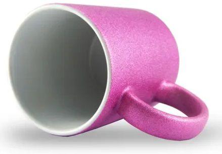 Caneca para Sublimação de Cerâmica Glitter Pink - Classe A  - ALFANETI COMERCIO DE MIDIAS E SUBLIMAÇÃO LTDA-ME