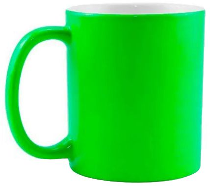 Caneca para Sublimação de Cerâmica Neon Verde  - ALFANETI COMERCIO DE MIDIAS E SUBLIMAÇÃO LTDA-ME