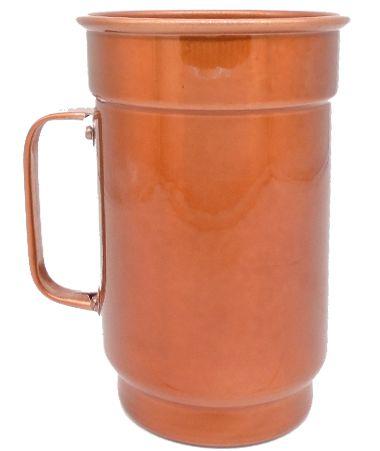 Caneca para sublimação em alumínio 750ml na cor (cobre brilhante)   - ALFANETI COMERCIO DE MIDIAS E SUBLIMAÇÃO LTDA-ME