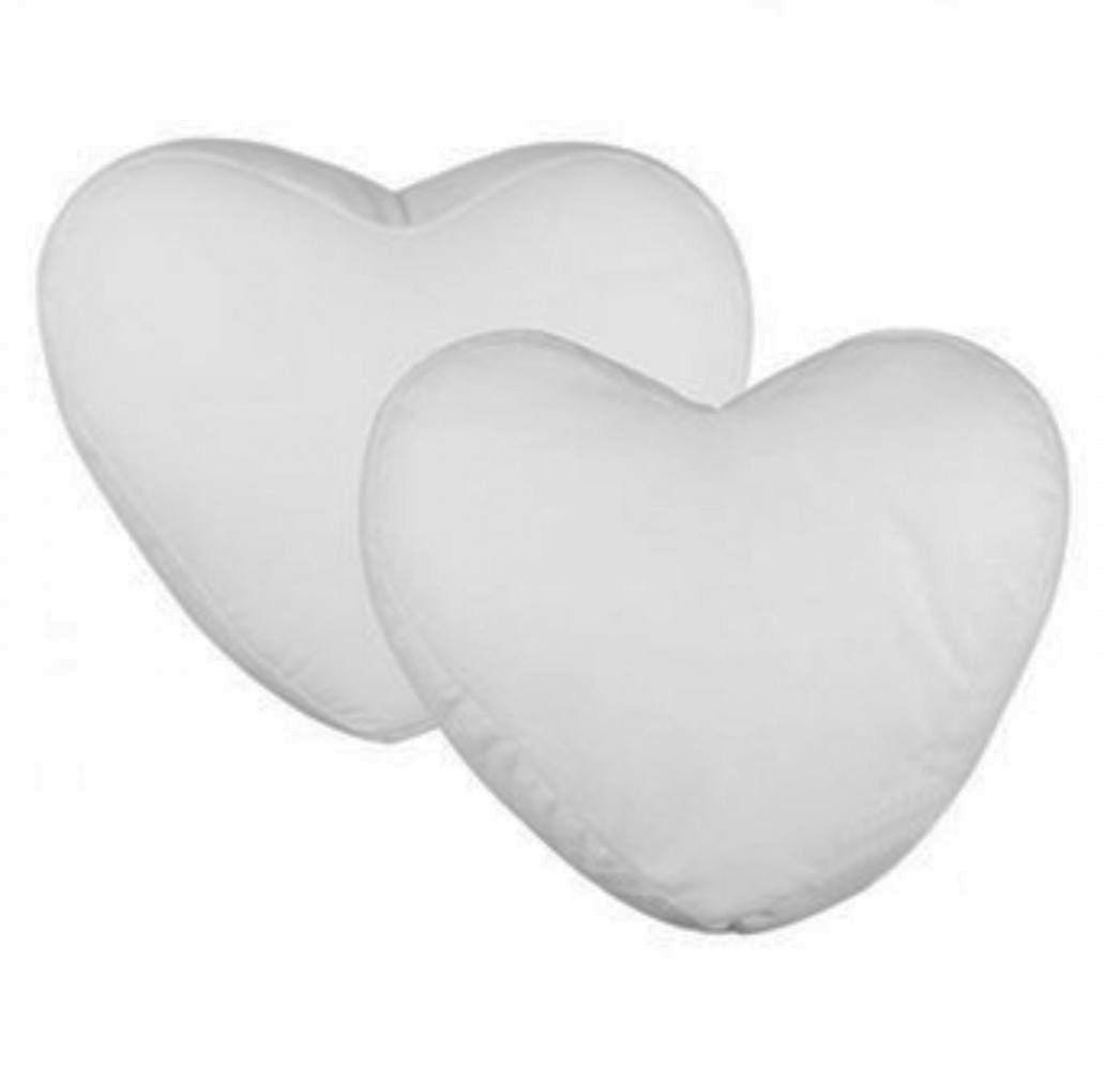 Capa Almofada Sublimática Coração Branco 30x25   - ALFANETI COMERCIO DE MIDIAS E SUBLIMAÇÃO LTDA-ME
