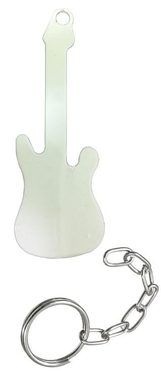 Chaveiro sublimático Branco (Guitarra)  - ALFANETI COMERCIO DE MIDIAS E SUBLIMAÇÃO LTDA-ME