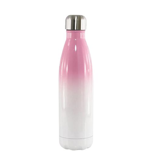 Garrafa Térmica Degradê Parede Dupla Rosa (bbb) para Sublimação 500ml   - ALFANETI COMERCIO DE MIDIAS E SUBLIMAÇÃO LTDA-ME