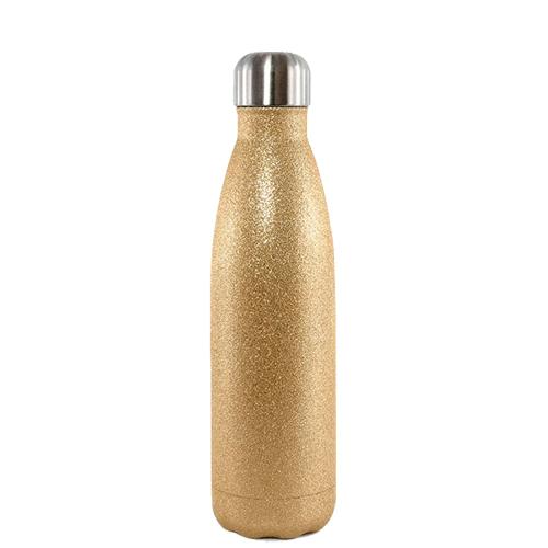 Garrafa Térmica Glitter Parede Dupla Dourada (bbb) para Sublimação 500ml   - ALFANETI COMERCIO DE MIDIAS E SUBLIMAÇÃO LTDA-ME