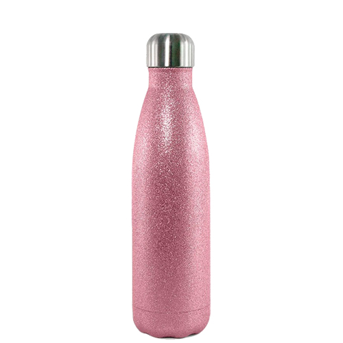 Garrafa Térmica Glitter Parede Dupla Rosa (bbb) para Sublimação 500ml   - ALFANETI COMERCIO DE MIDIAS E SUBLIMAÇÃO LTDA-ME