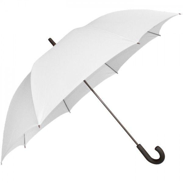 Guarda-Chuva Cabo Curvo para Sublimação na Cor Branco - Tamanho 87 cm  - ALFANETI COMERCIO DE MIDIAS E SUBLIMAÇÃO LTDA-ME