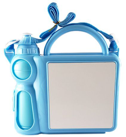 Lancheira Infantil de Plástico para Sublimação - Azul  - ALFANETI COMERCIO DE MIDIAS E SUBLIMAÇÃO LTDA-ME