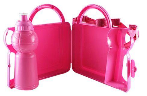 Lancheira Infantil de Plástico para Sublimação - Rosa  - ALFANETI COMERCIO DE MIDIAS E SUBLIMAÇÃO LTDA-ME