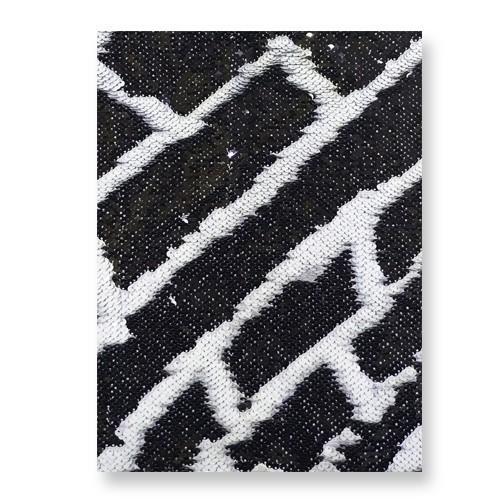 OBM-Aplique de Lantejoula Dupla Face Retangular 21x28cm Preto e Branco  - ALFANETI COMERCIO DE MIDIAS E SUBLIMAÇÃO LTDA-ME