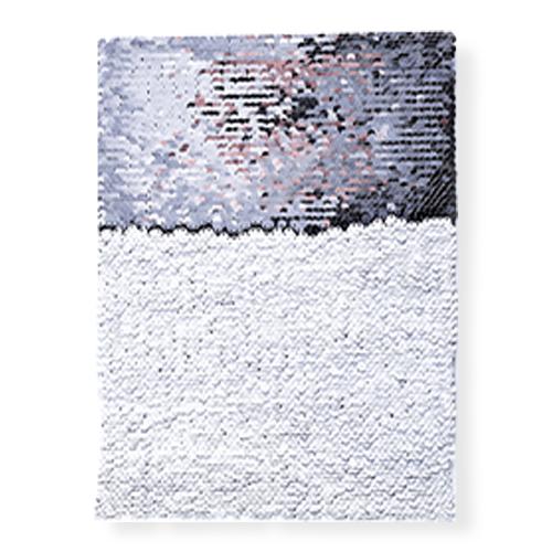 OBM-Aplique de Lantejoula Sublimática Dupla Face Retangular 21x28cm Prata e Branco  - ALFANETI COMERCIO DE MIDIAS E SUBLIMAÇÃO LTDA-ME