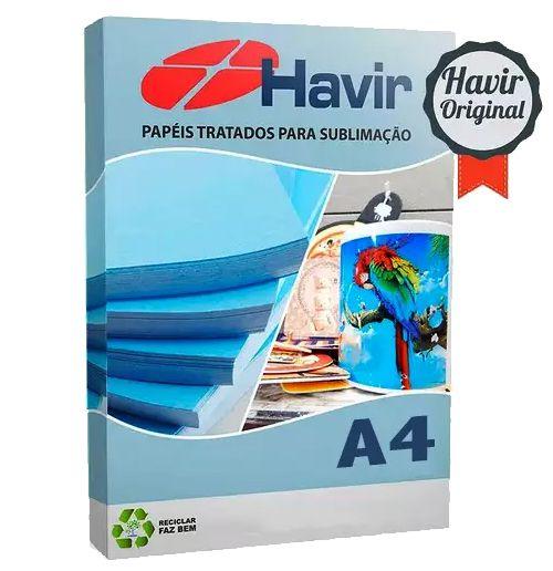 Papel Resinado Para Sublimação Havir 90g (FUNDO AZULÃO) A4  - ALFANETI COMERCIO DE MIDIAS E SUBLIMAÇÃO LTDA-ME