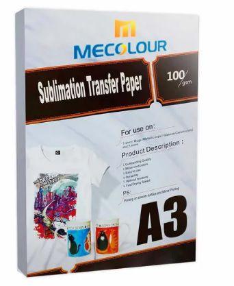 Papel Resinado Para Sublimação Mecolour A3  - ALFANETI COMERCIO DE MIDIAS E SUBLIMAÇÃO LTDA-ME