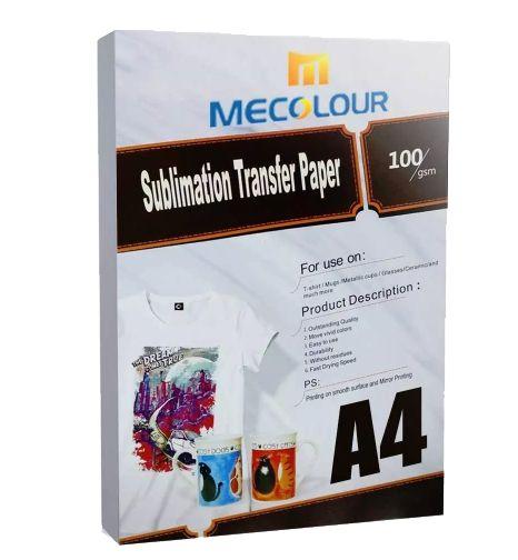 Papel Resinado Para Sublimação Mecolour A4  - ALFANETI COMERCIO DE MIDIAS E SUBLIMAÇÃO LTDA-ME