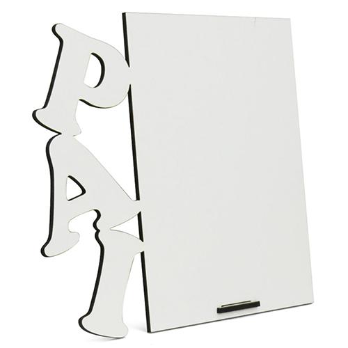 Porta Retrato MDF Para Sublimação Texturizado Branco 16x18cm - PAI -  - ALFANETI COMERCIO DE MIDIAS E SUBLIMAÇÃO LTDA-ME