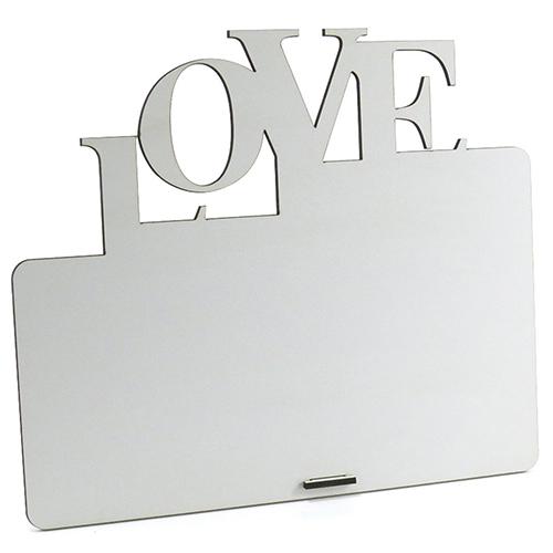 Porta Retrato MDF Para Sublimação Texturizado Branco 25,5x21,5cm - LOVE -  - ALFANETI COMERCIO DE MIDIAS E SUBLIMAÇÃO LTDA-ME