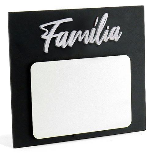Porta Retrato MDF Para Sublimação Texturizado Preto e Branco 17,5x20cm - Família -  - ALFANETI COMERCIO DE MIDIAS E SUBLIMAÇÃO LTDA-ME