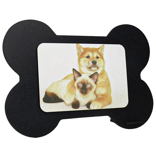 Porta Retrato MDF Para Sublimação Texturizado Preto e Branco 21x14,5cm - OSSO -  - ALFANETI COMERCIO DE MIDIAS E SUBLIMAÇÃO LTDA-ME