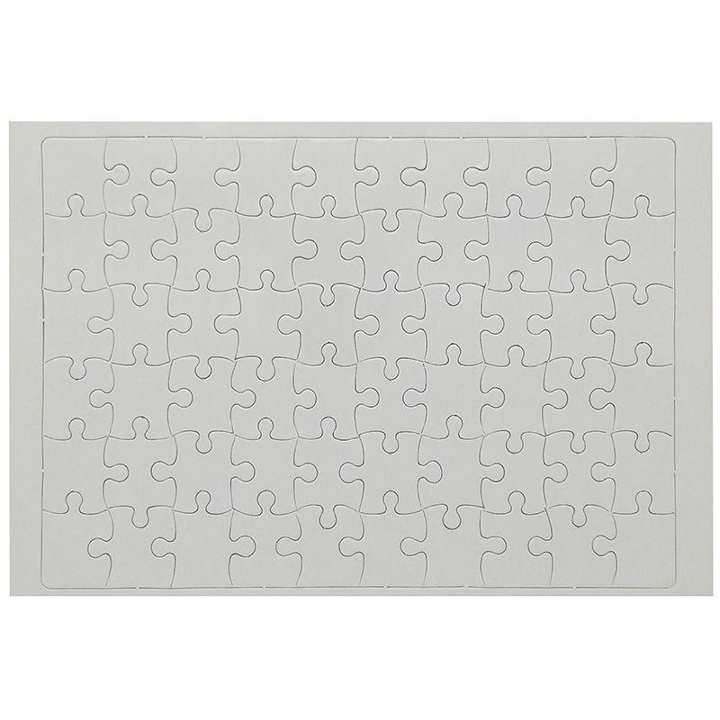 Quebra Cabeça Branco Brilhante Para Sublimação 19x27 Com 60 Peças  - ALFANETI COMERCIO DE MIDIAS E SUBLIMAÇÃO LTDA-ME