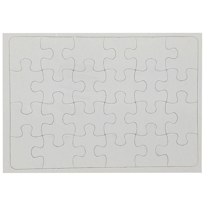 Quebra Cabeça Branco Para Sublimação 27x19 Com 24 Peças  - ALFANETI COMERCIO DE MIDIAS E SUBLIMAÇÃO LTDA-ME