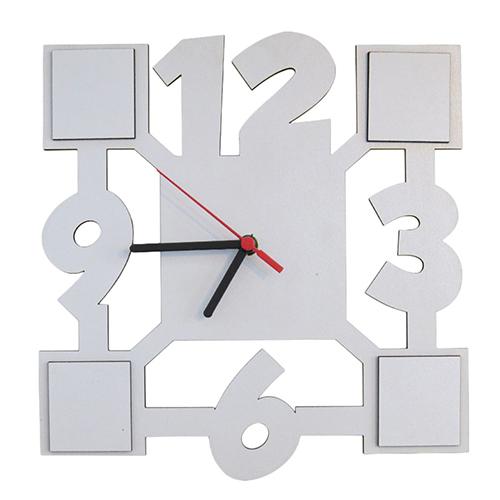 Relógio De Parede MDF Para Sublimação Texturizado 27x27cm  - ALFANETI COMERCIO DE MIDIAS E SUBLIMAÇÃO LTDA-ME