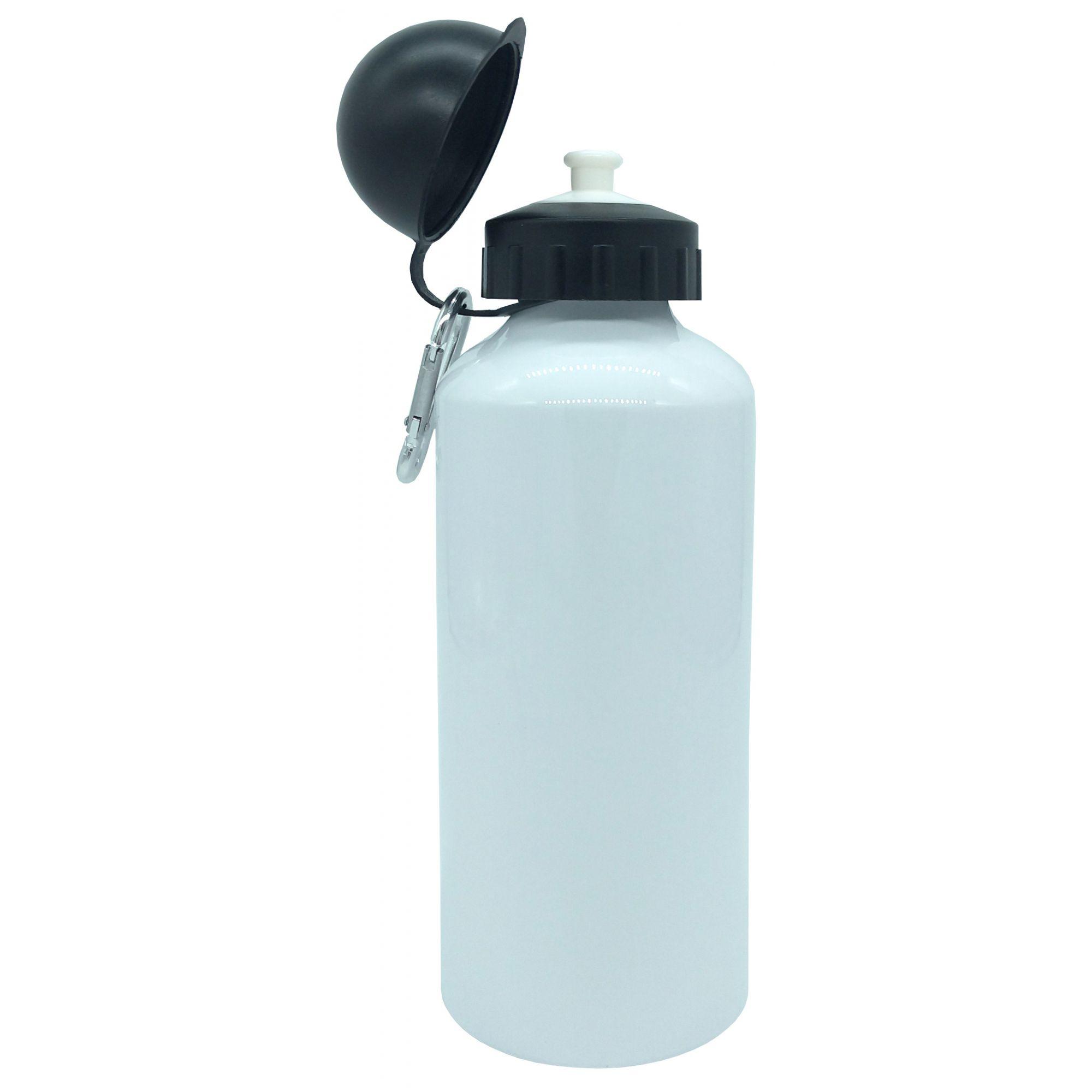 Squeeze de Alúminio Branco Tampa Bolinha Para Sublimação 600ml ( COM CAIXINHA )  - ALFANETI COMERCIO DE MIDIAS E SUBLIMAÇÃO LTDA-ME