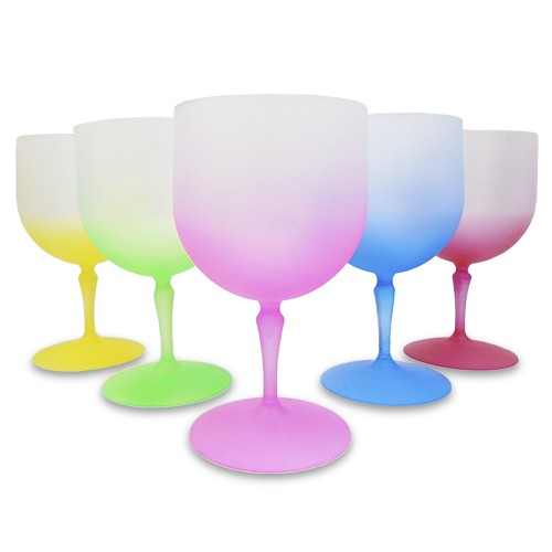 Taça Gin em Acrílico Fosca Com Degradê Colorido - 750ml  - ALFANETI COMERCIO DE MIDIAS E SUBLIMAÇÃO LTDA-ME