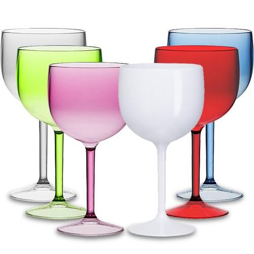 Taça Gin em Acrílico Translúcido Colorido - 750ml  - ALFANETI COMERCIO DE MIDIAS E SUBLIMAÇÃO LTDA-ME