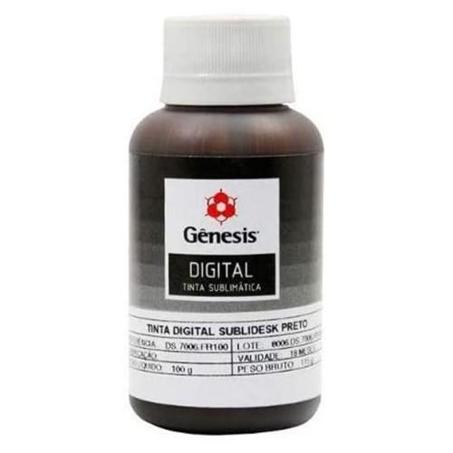 Tinta Sublimática GÊNESIS para Impressoras Epson 100ml (Preta)  - ALFANETI COMERCIO DE MIDIAS E SUBLIMAÇÃO LTDA-ME