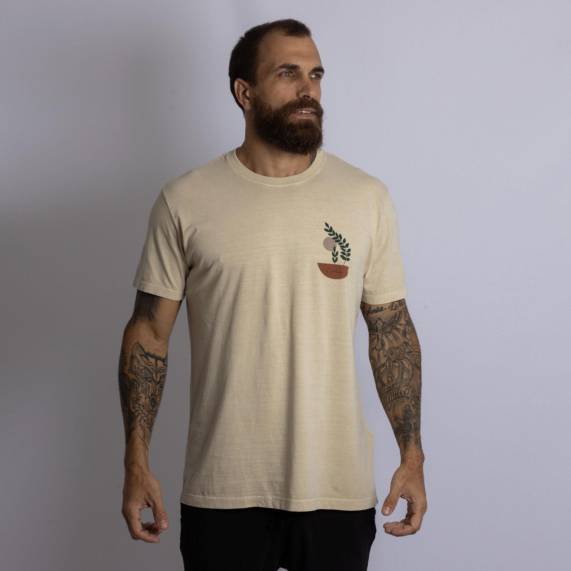 Camiseta Folha Abstrata