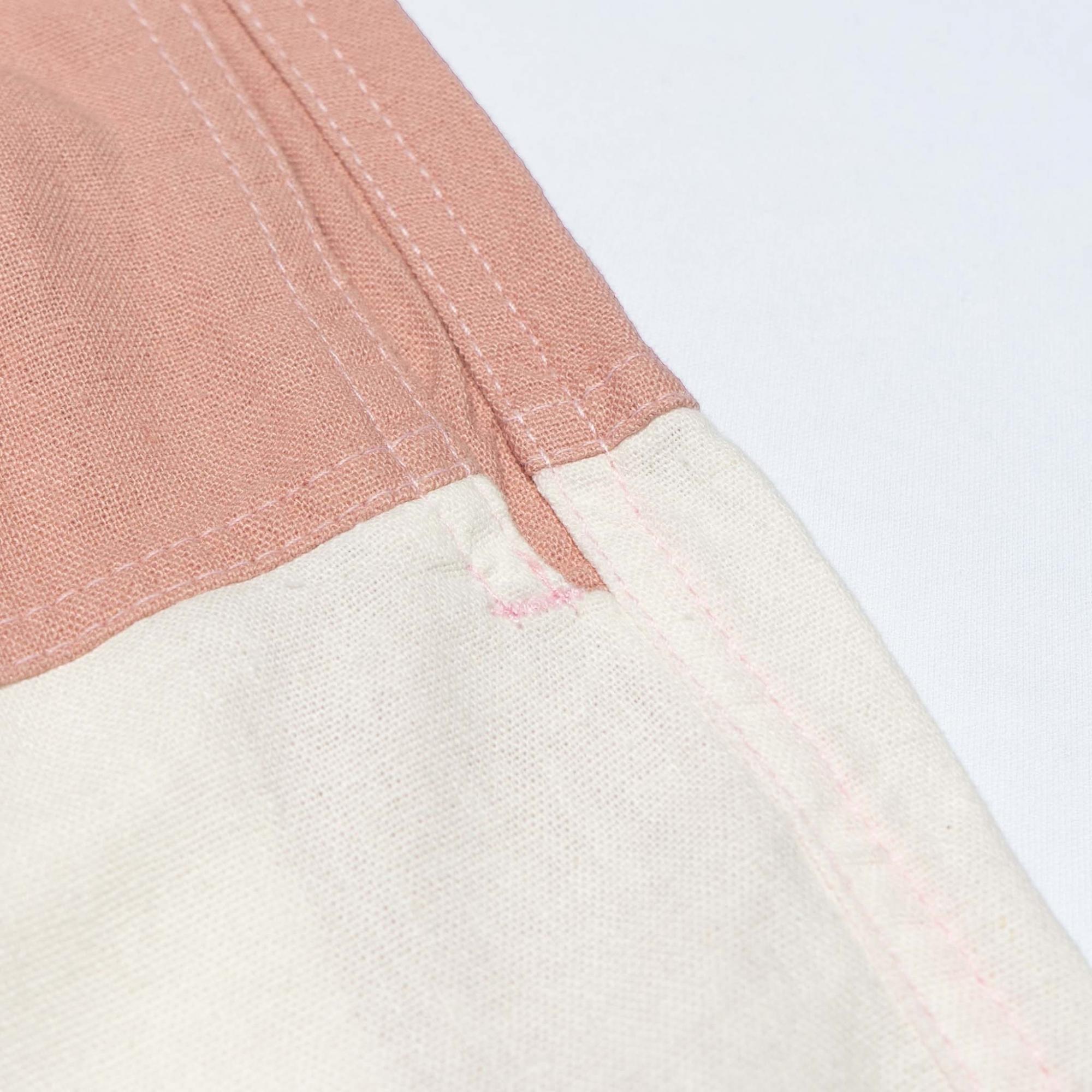 Short Linho Bicolor Rose & OffWhite